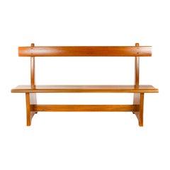 1970s American Craftsman Splined Wood Bench