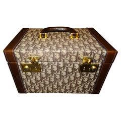 1970s Christian Dior Burgondy Color Vanity Case