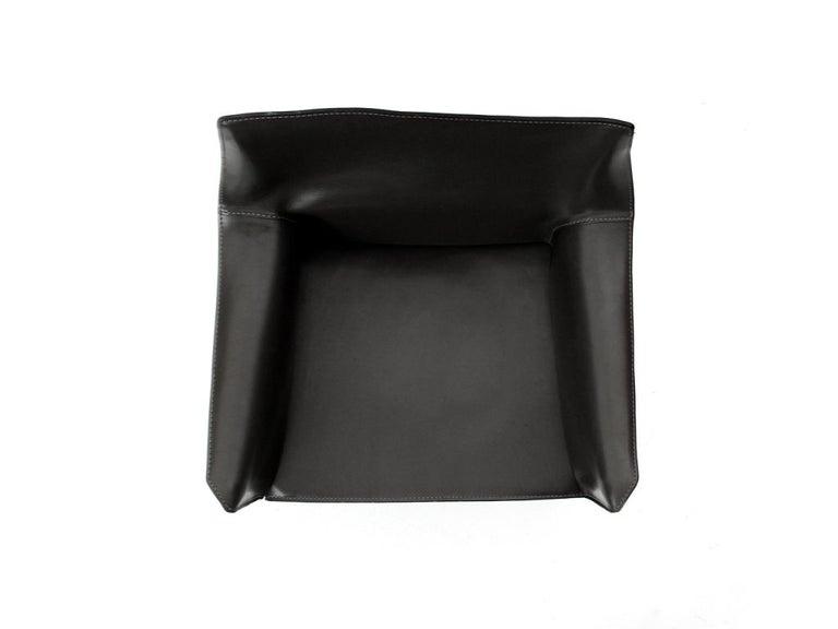 1970s Italian Cab Armchair by Mario Bellini for Cassina in Black Leather For Sale 2