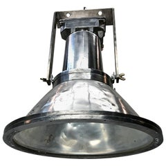 1970s Large Dutch Cast Aluminum Industrial Flood Lamp, Industria Rotterdam