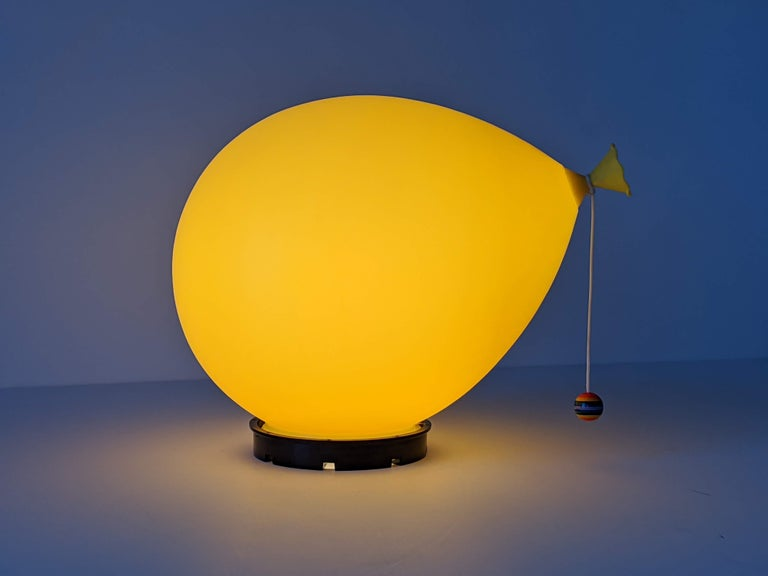 1970s Table, Wall or Ceiling Ballon Lamp by Yves Christin, Italy For Sale 2