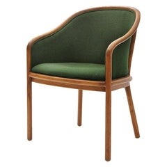 1970s Upholstered Ash Armchair by Ward Bennett for Brickel Associates