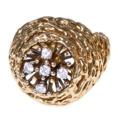 1972 David Thomas for Prestige Jewellers Diamond and Gold Ring