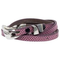1978 Berry Kieselstein Cord Leather Purple Belt with Sterling Buckle