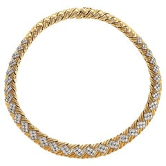 1980s Diamond and Gold Necklace