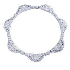 1980s Diamond Platinum Bandeau Tiara convertible Necklace