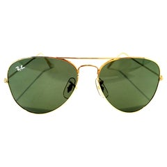 "1980'S Gold Plate ""Tear Drop"" Aviator Sunglasses By, B&L Ray Ban USA"
