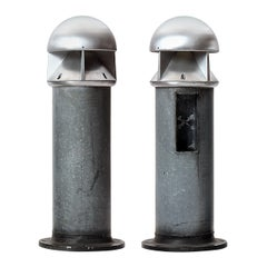 "1980s Pair of Danish ""Bollard"" Lamps by Dan Hasløv for Louis Poulsen"