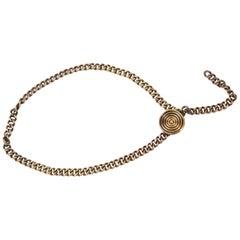 1980s Saint Laurent Copper Chain Belt