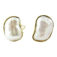1980s Tiffany & Co. 18 Karat Yellow Gold Keshi Pearl Earrings