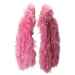 1980s Yves Saint Laurent Pink Feather Jacket