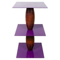 1980s Zanzibar Pedestal Table by Marco Zanini & Wendy Wheatley for Bieffeplast