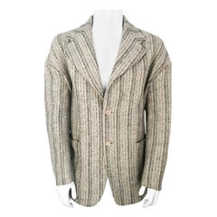 1990s Dolce and Gabbana Grey Tweed Jacket