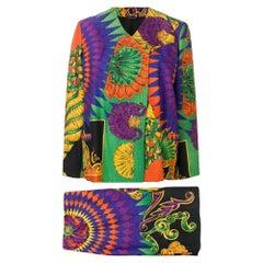 1990s Versace Fantasy Skirt Suit