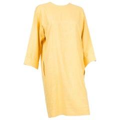 1990s Yves Saint Laurent Silk Yellow Dress