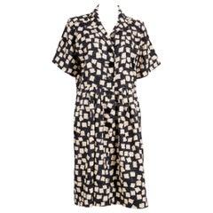 1994s Catwalk Summer Yves Saint Laurent Silk African Dress