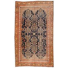 19th Century, Antique Wool Rug, Samarkand Design, circa 1920