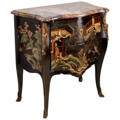 19th Century Chinoserie Lacquer Commode
