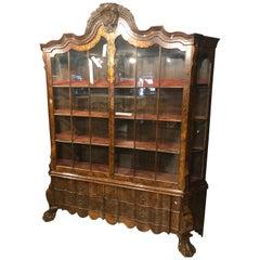 19th Century Dutch Louis XVI Wood Walnut Inlaid Cabinet, 1820