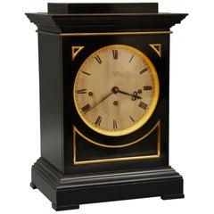 19th Century Ebonized Bracket Clock by J&A Jump, London