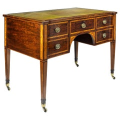 19th Century Figured Mahogany Writing Desk by Wright and Mansfield