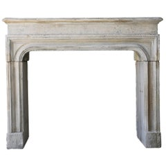 19th Century Fireplace of French Limestone