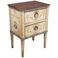 19th Century Florentine Style Cream Painted Chest of Drawers