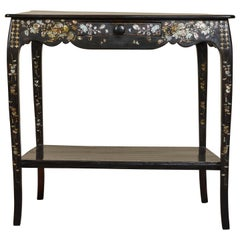 19th Century French Colonial Mother of Pearl Table