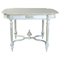 19th Century French Louis XVI Painted End Table, Center Table