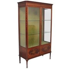 19th Century Mahogany and Inlaid Display Cabinet