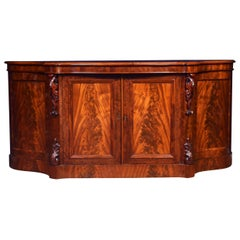 19th Century Mahogany Serpentine Fronted Sideboard