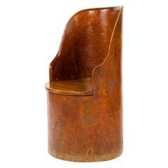 19th Century Scandinavian Craft Barrel Chair