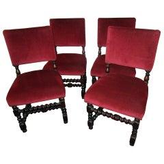 19th century Set English Barley Twist Chairs