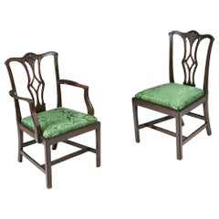 19th Century Set of Twelve Dining Chairs after Thomas Chippendale