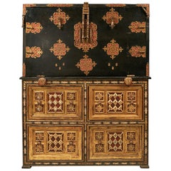 19th Century Spanish Vargueno Chest on Chest