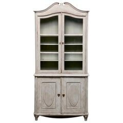 19th Century Swedish Gustavian Painted Pine Cupboard