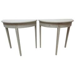 Set of 2 Swedish Gustavian Console Tables