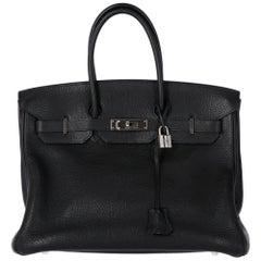 2000s Hermès 35 cm Black Birkin Bag