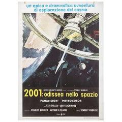 '2001: A Space Odyssey' R1970s Italian Due Fogli Film Poster