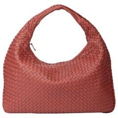 2010 Bottega Veneta Burnt Red Woven Lambskin Medium Veneta Bag
