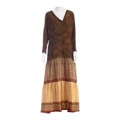 2010s Morphew Silk Dress Made From Antique 1920s & 1970s Fabrics