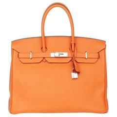 2011 Hermès Orange H Togo Leather Birkin 35cm