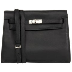 2012 Hermès Black Swift Leather Kelly Danse