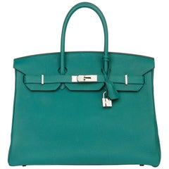 2013 Hermès Malachite Togo Leather Birkin 35cm