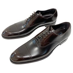2014 Dolce and Gabbana Men's Brown Oxford shoes