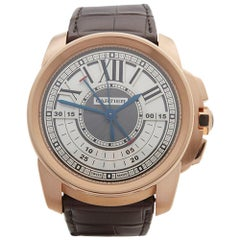 2017 Cartier Calibre Central Chronograph Rose Gold 3242 or W7100004 Wristwatch