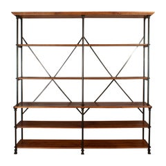 20th Century French Industrial Library Shelving
