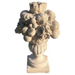 20th Century Garden Vases with Fruit