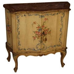 20th Century Lacquered Painted and Giltwood Venetian Sideboard, 1960