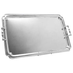20th Century Large Sterling Silver Tray by Barnards in 1914